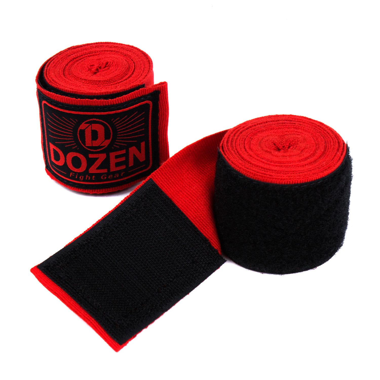Бинты Dozen Monochrome Semi-elastic Total Red вид липучка