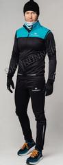 Элитный утеплённый лыжный костюм Nordski Pro Breeze-Black мужской