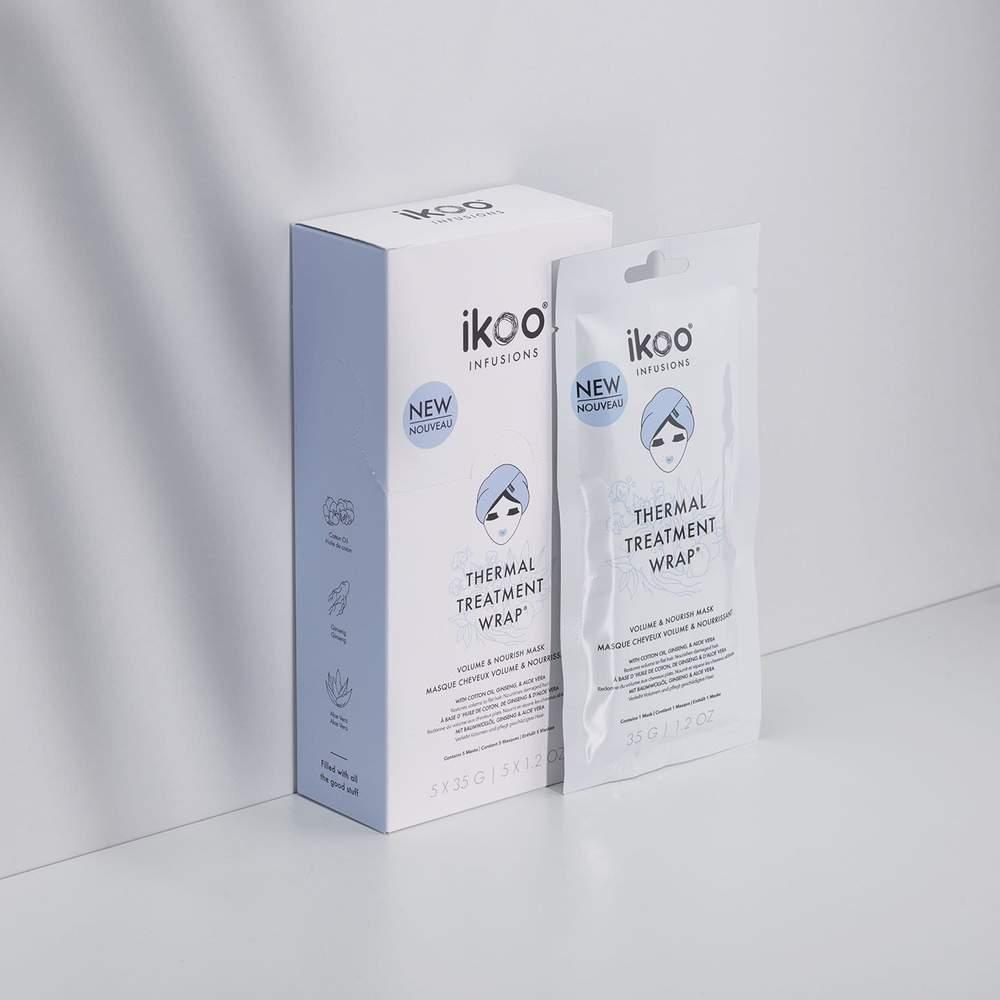 Термальная маска-шапочка ikoo (5 шт.) Thermal Treatment Wrap - Volume & Nourish  Объем и питание