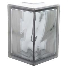 Угловой стеклоблок серый окраска в массе Vitrablok 19x13x13x8
