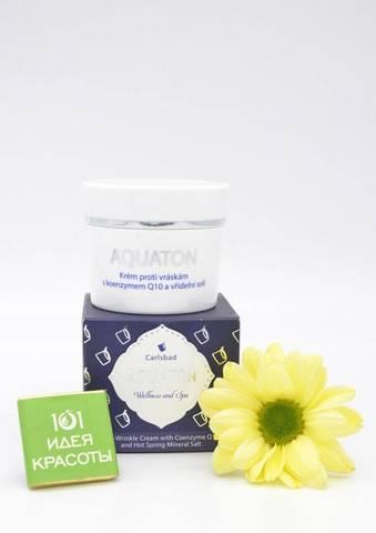 Ryor Aquaton Kрем для лица с коэнзимом Q10 и термальной солью против морщин, 50мл