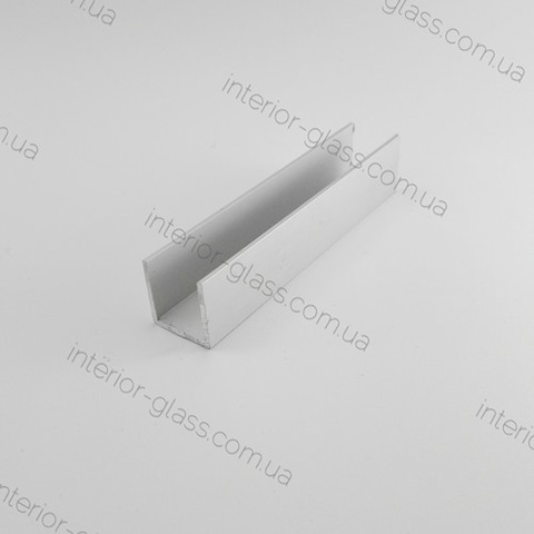 Швеллер (профиль) алюминиевый 20x20x1,5 мм ST-507 AL для стекла