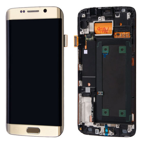 LCD SAMSUNG Galaxy S6 Edge G925F + Touch + Frame Gold Orig
