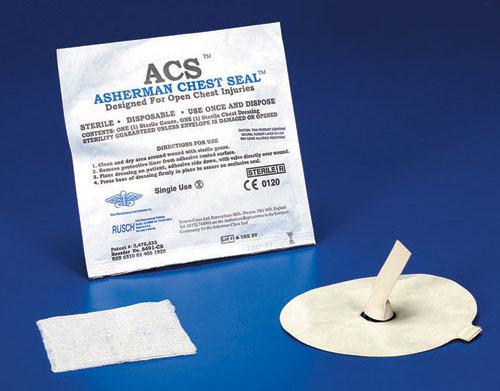 Окклюзионная повязка Ашермана, пластырь-повязка с клапаном для пневмоторакса (Asherman Chest Seal) (вентилируемый)