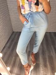 голубой летний костюм женский купить
