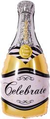 Мини-фигура (14''/36 см), Бутылка, Шампанское вино, Золото, 5 шт.