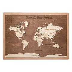 Карта путешественника из дерева Brown фото 1