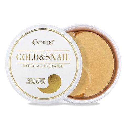 Esthetic House Патчи для глаз золото/улитка Gold & Snail Hydrogel Eye Patch 60 шт