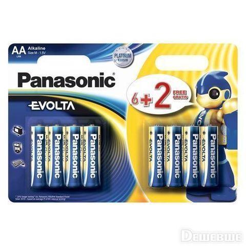 Батарейки Panasonic Alkaline Evolta LR6, AA (8/48) BL