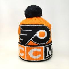 Вязаная шапка хоккей НХЛ ССМ Филадельфия Флайерз (Hockey NHL CCM Philadelphia Flyers) с помпоном