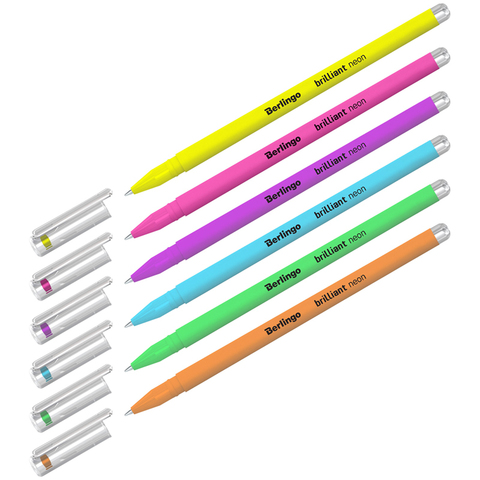Berlingo Brilliant Neon набор гелевых ручек c эффектом неон 0.8 мм - 6 цветов
