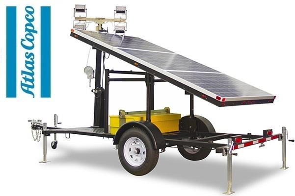 Осветительная мачта на солнечных батареях Atlas Copco QLTS 8