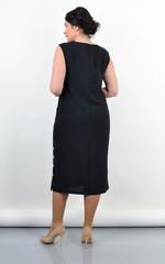 Венера. Женское платье большого размера. Черный.