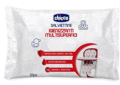 Chicco. Универсальные очищающие салфетки для поверхностей, 20 шт/уп