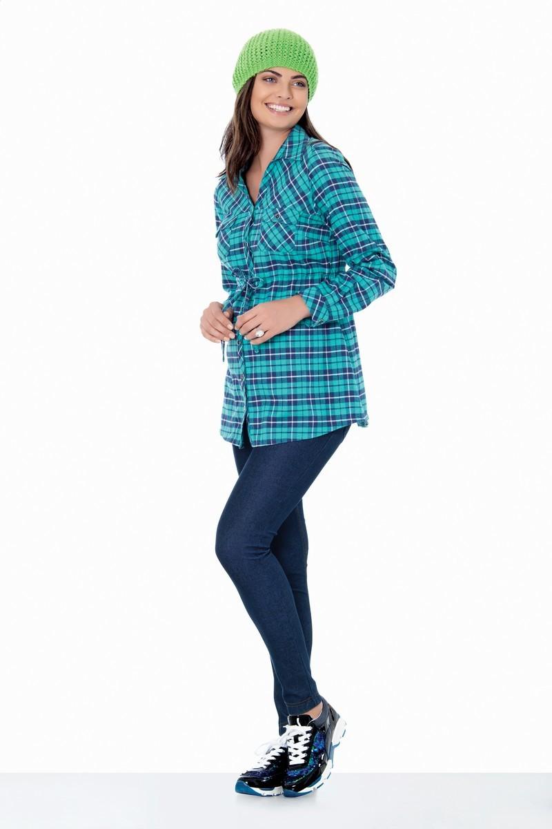 Рубашка для беременных 01402 зеленый