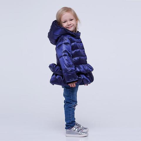 Однотонна демісезонна дитяча куртка синього кольору
