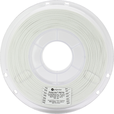 PolyMaker PolyLite PETG, 1.75 мм, 1 кг, Белый