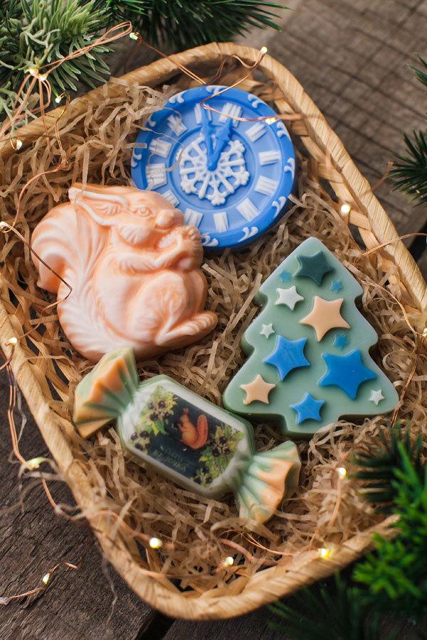 Мыло Часы новогодние. Пластиковая форма