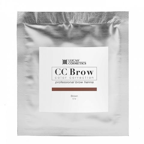 Хна для бровей CC Brows в саше, 5 гр. Цвет коричневый