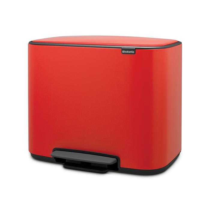 Мусорный бак Bo  (3 x 11 л), Пламенно-красный, арт. 121029 - фото 1