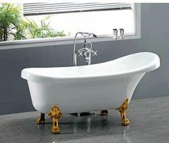 Ванна акриловая Cerutti SPA C-2014-1 150х75 см комплектация в цвете золото