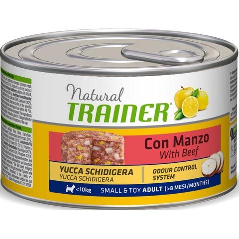 Консервы Тренер Натурал с говядиной и рисом для  взрослых собак мелких пород 150 гр.