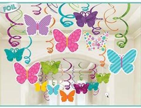 Спираль Бабочки Весенние 46-60см 30шт/A