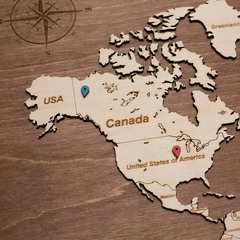 Карта путешественника из дерева Brown фото 3