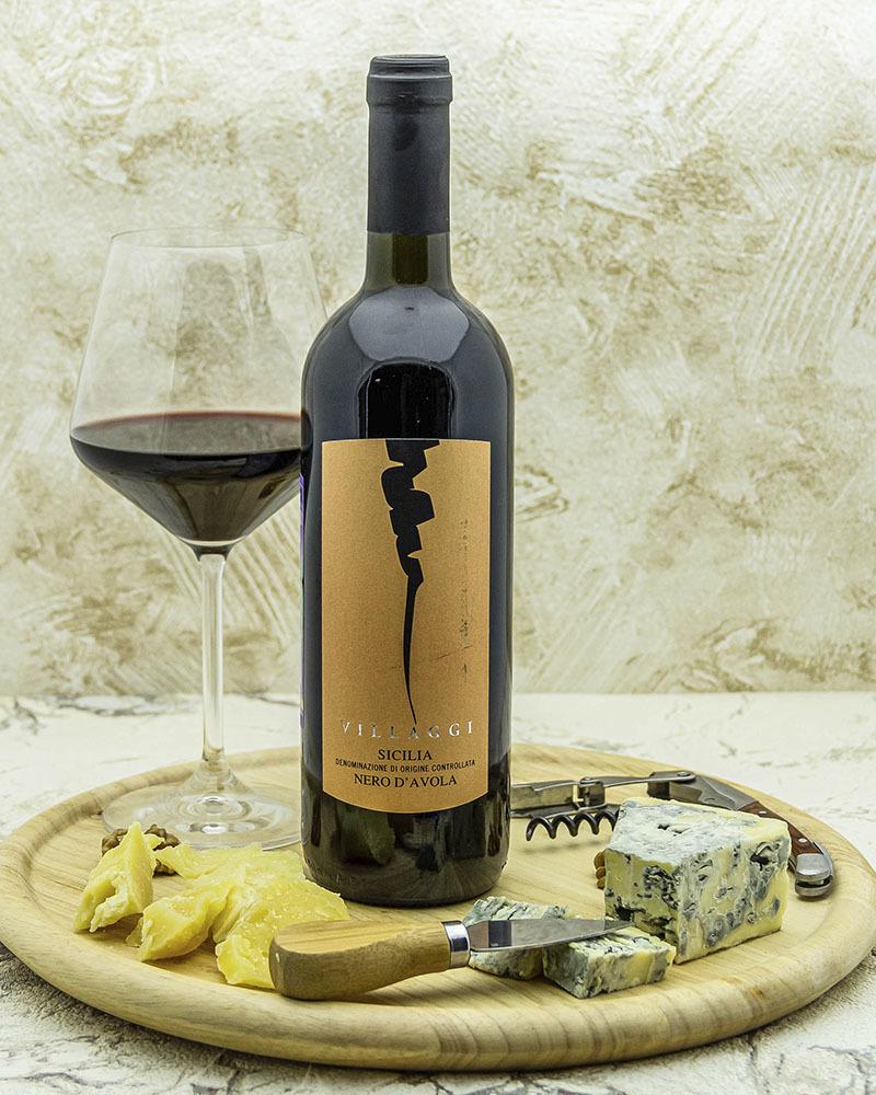 Вино Pirovano Вилладжи Сицилия Неро Д'Авола Красное Сухое 13% 0,75 л.