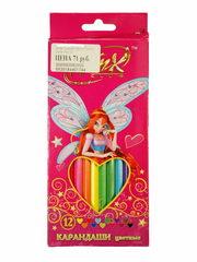 Карандаши цветные 12 Winx
