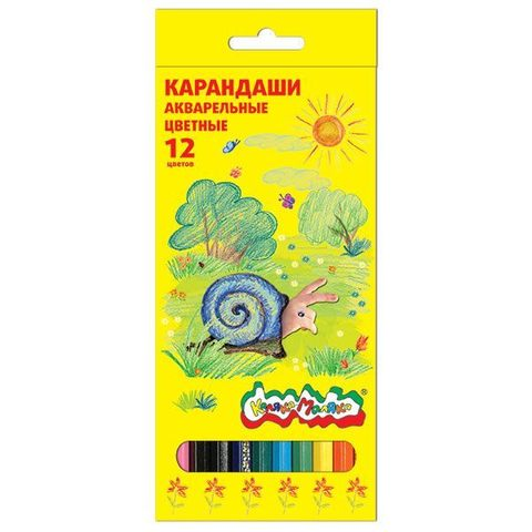 Карандаши акварельные Каляка-Маляка 12 цветов/КАКМ12