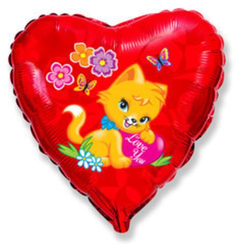 F Сердце Влюбленный котенок, 18