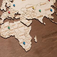 Карта путешественника из дерева Brown фото 4