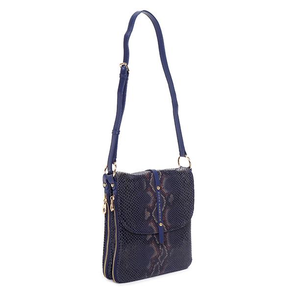 Женская синяя сумка из кожи Nina Farmina