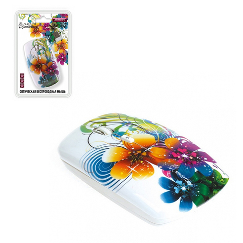 Мышь беспроводная ONE SBM-327AG-FL-FC цветы SMARTBUY