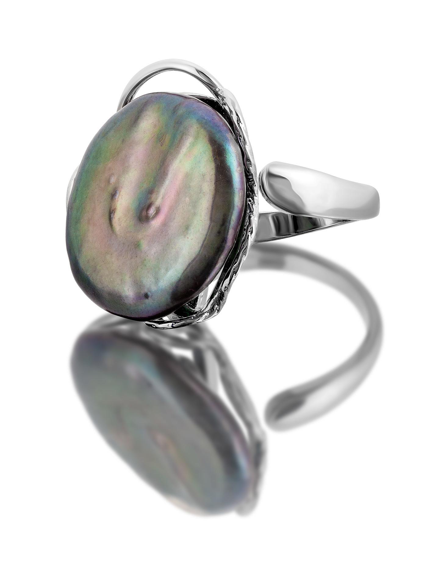 Кольцо с жемчугом барокко