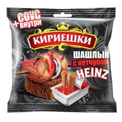 Сухарики Кириешки ржаные со вкусом шашлыка 60 г + кетчуп Heinz 25 г