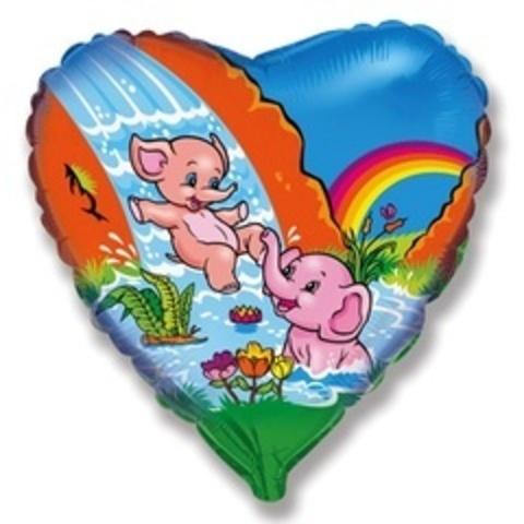 Сердце Веселые слонята 18