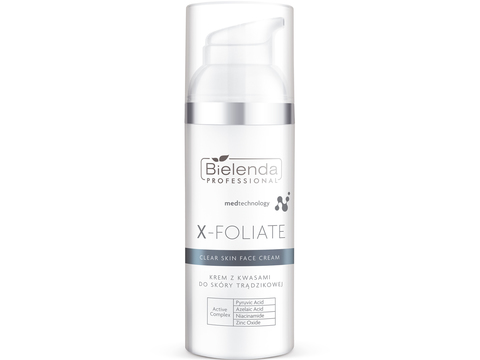 X-FOLIATE Clear Skin Крем для лица с кислотами для жирной кожи, склонной к акне