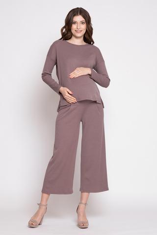 Костюм для беременных 12359 коричневый