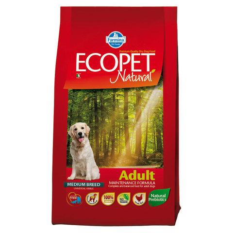 Farmina Ecopet Natural Adult Сухой корм взрослых собак всех пород с курицей