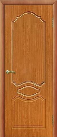 Дверь Сибирь Профиль Венеция, цвет миланский орех, глухая