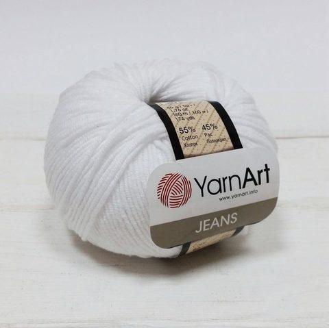 Пряжа YarnArt JEANS - (01 - Белый)