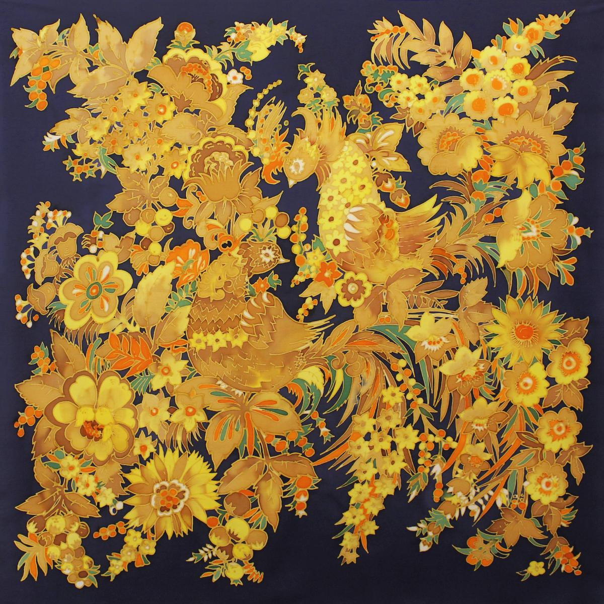Шёлковый платок Хохлома C-61
