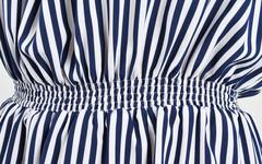 Ванда. Літній комбінезон великих розмірів. Синій + білий.