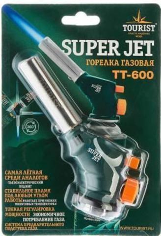 Горелка газовая SUPER JET (TT-600) с пьезоподжигом и системой подогрева газа,
