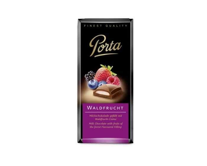 Молочный шоколад с лесными ягодами Weinrichs 1895 Porta, 100 г