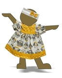 Платье хлопковое - Демонстрационный образец. Одежда для кукол, пупсов и мягких игрушек.
