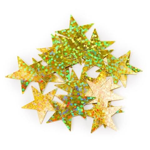 Конфетти Звезды, Золото, Голография, 17 гр