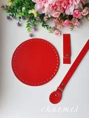 Дно для сумки круглое 20 см. Красный
